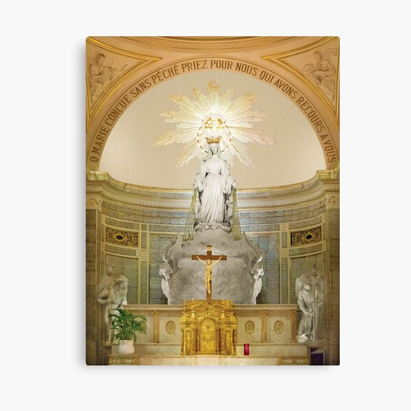 Virgin Mary of Light and Love Canvas Print