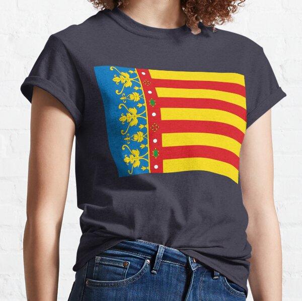 Bandera de valencia, españa Camiseta clásica