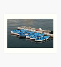 Fishing Boats, Gallipoli Harbour  Art Print