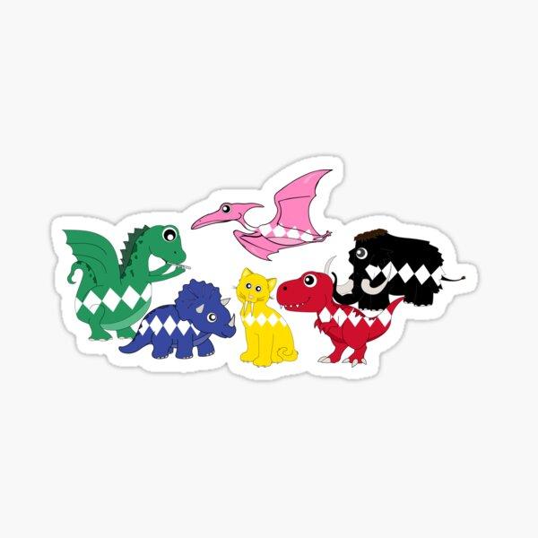 Power Ranger Dinosaurs Cute Sticker