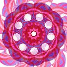 Red Violet Round Illusions Fall Into Winter Number Four by GreenBeeMee by GreenBeeMee