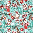 Mele Kalikimaka Hawaiian Christmas gingerbread cookies  by SelmaCardoso