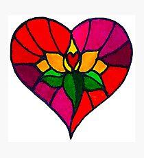 Lotus Hearts Photographic Print