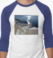 Stairway to Blue Domed Church Men's Baseball ¾ T-Shirt