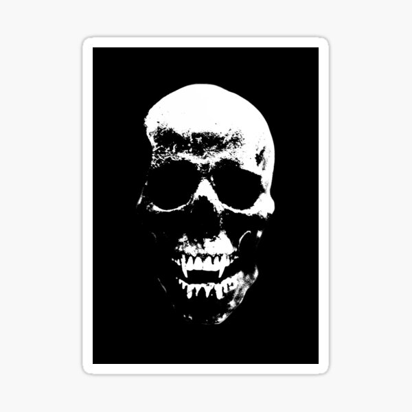 Ancient Vampire Skull Sticker