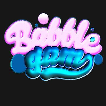 Bubble Gum Chewing Gum Neon Trend Colourful Gift by yoddel