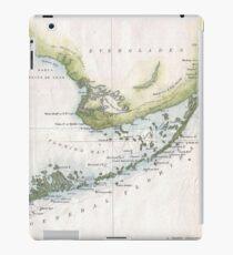 Vintage Map of The Florida Keys (1852) iPad Case/Skin