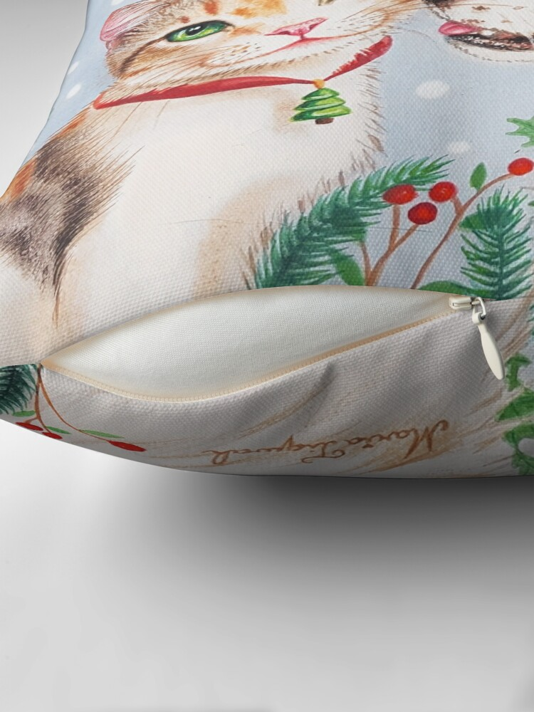 Alternate view of Christmas kiss by Maria Tiqwah Throw Pillow