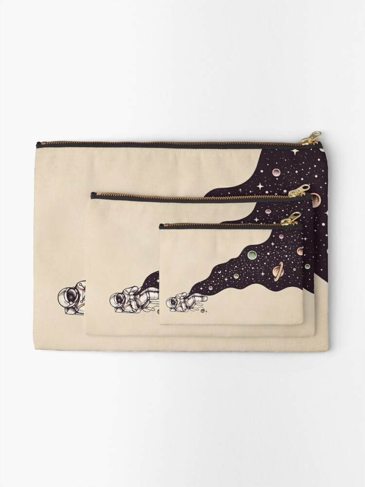 Alternate view of Universe is Knit Zipper Pouch