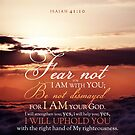 Isaiah 41:10 Bible Verse Sky Clouds Sunlight Print by ScripturePics