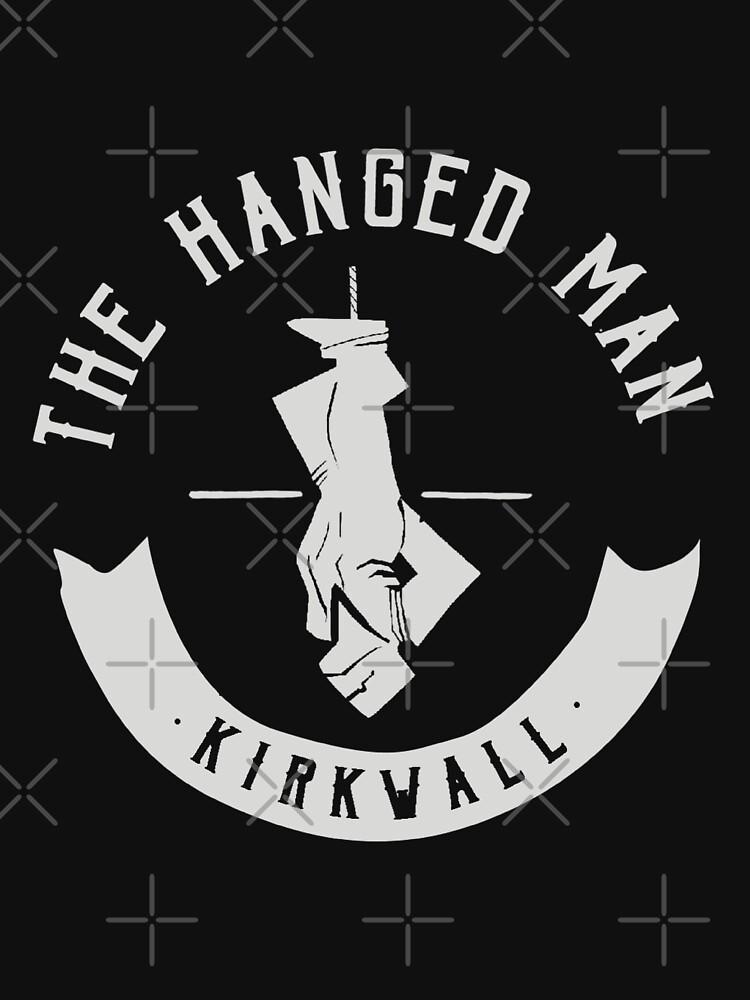The Hanged Man Pub Logo   Dragon Age 2   White Logo by surik-