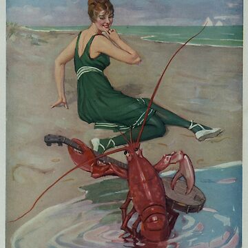 Vintage Lobster Guitar Serenade Illustration (1914) by BravuraMedia