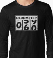 Oldometer 60-Jahrestags-T-Shirt 60. Geburtstagsfeier Langarmshirt