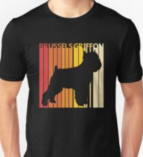 Vintage Retro Brussels Griffon Christmas Gift Unisex T-Shirt