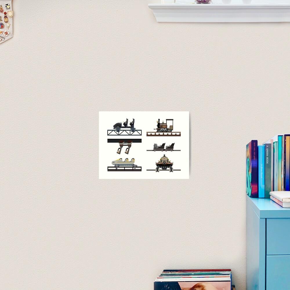 Phantasialand Coaster Cars Design Art Print