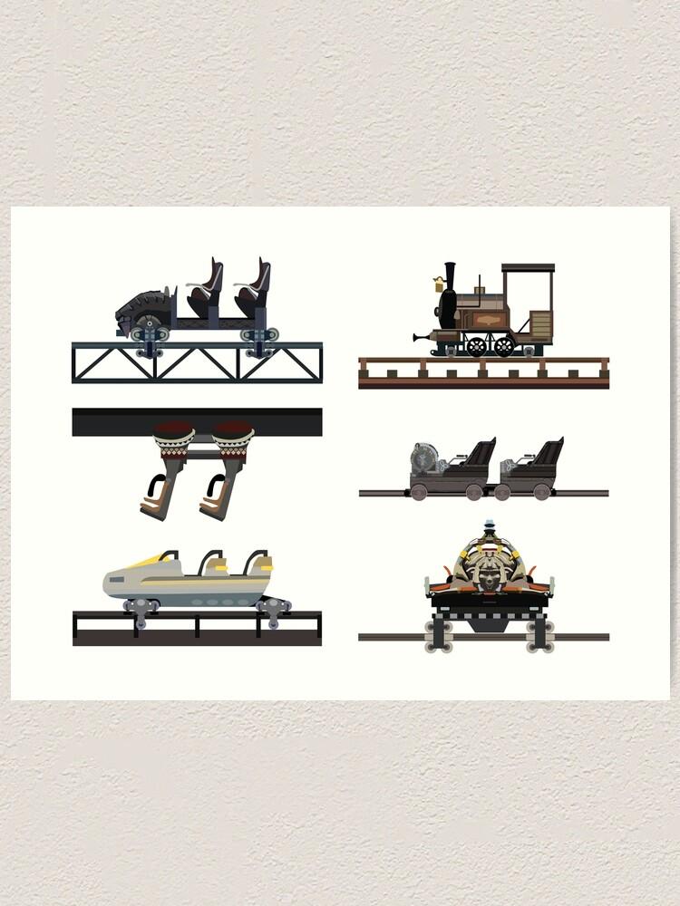Alternate view of Phantasialand Coaster Cars Design Art Print