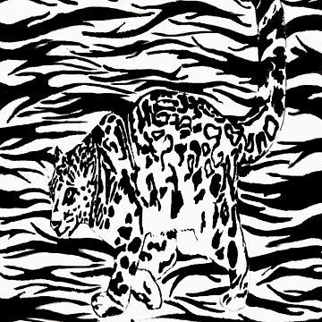 Snow leopard by Oceanzofrain