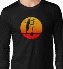 SUP Stand Up Paddle Board Getriebe Stand Up Paddle Board Geschenk SUP Surf Tee Paddel Langarmshirt
