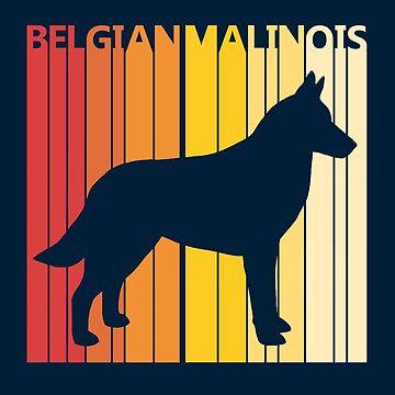 Vintage Retro Belgian Malinois Christmas Gift by polveri