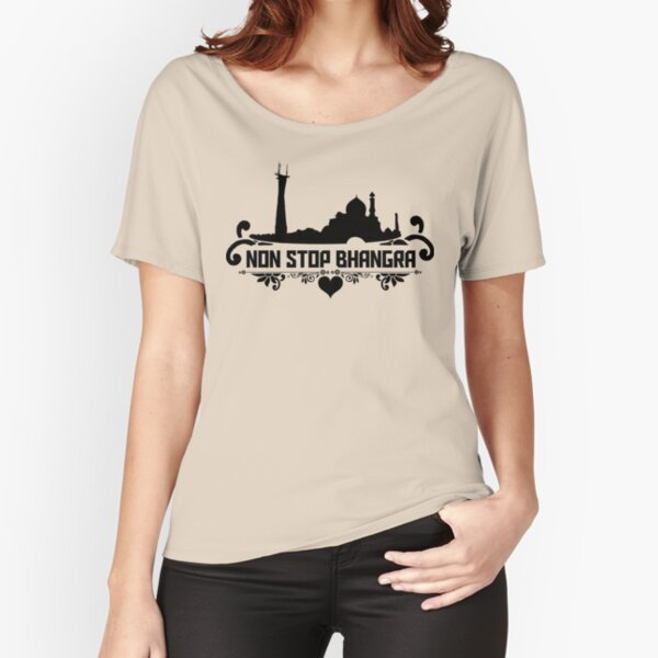 Non Stop Bhangra City Womens Relaxed Fit T-Shirt