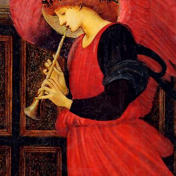 "Edward Burne-Jones ""An Angel Playing a Flageolet"" (2) by ALD1"