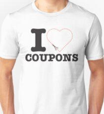 Drifter Threads: I Heart Coupons Unisex T-Shirt