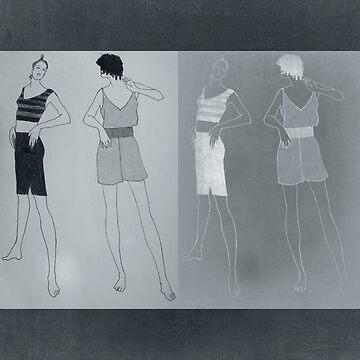 girls in shorts by TessAndre