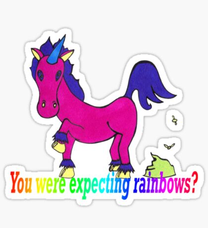 Unicorn rainbows? Sticker