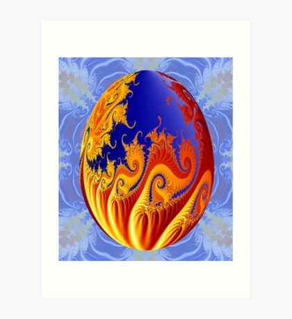 World Egg Art Print