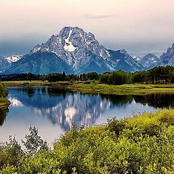 Mount Moran Reflection (2) by tenia115