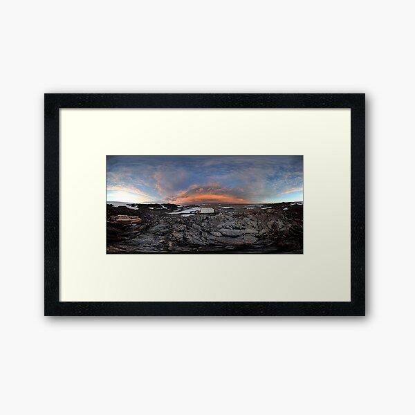Pensive Skies, Cape Dension, Antarctica Framed Art Print