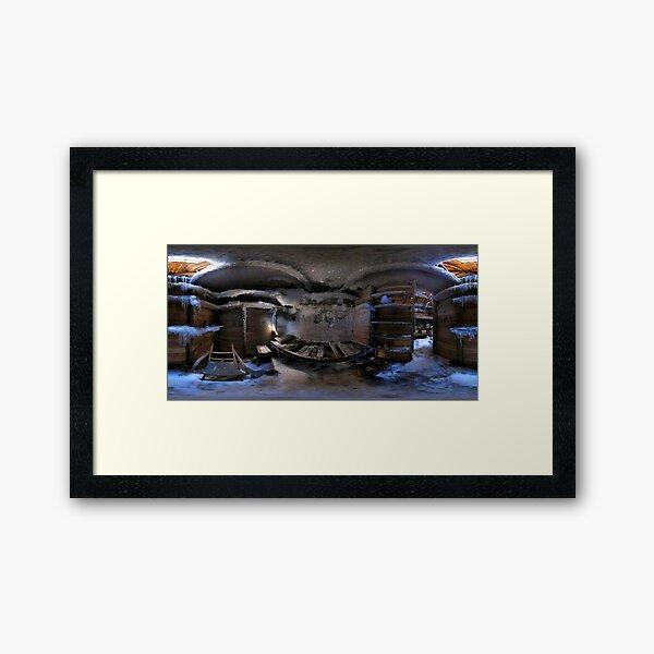 Mawson's Room, Mawson's Huts, Cape Denison, Antarctica Framed Art Print