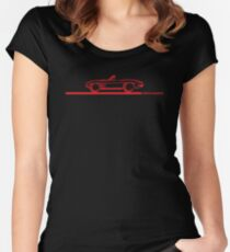 1963 Corvette Convertible Red Women's Fitted Scoop T-Shirt