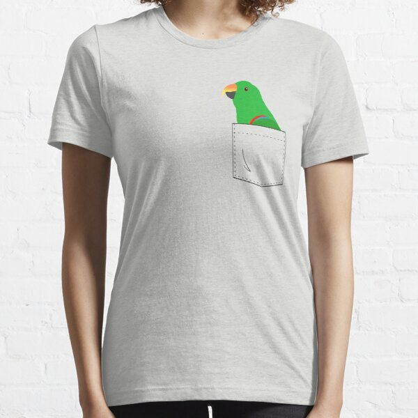 Eclectus Male Parrot In Your Front Pocket  Essential T-Shirt