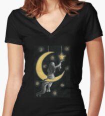 Star  Women's Fitted V-Neck T-Shirt