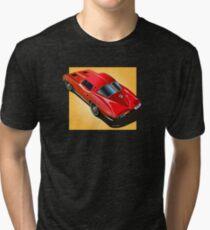 1963 Corvette Split Window Fastback Red Yellow Tri-blend T-Shirt