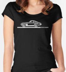 1965 Corvette Stingray Fastback White Women's Fitted Scoop T-Shirt