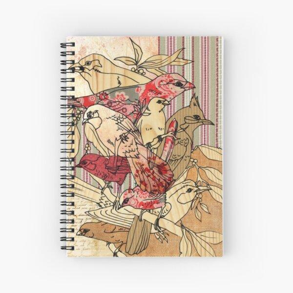 vintage finch Spiral Notebook