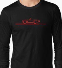 1965 Corvette Stingray Convertible Red Long Sleeve T-Shirt