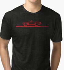 1965 Corvette Stingray Convertible Red Tri-blend T-Shirt