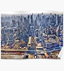 Early Morning Over New York City Poster