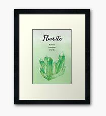 Crystal Wishes- Fluorite Framed Print