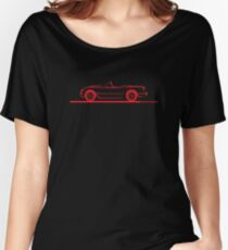1953 1954 1955 Corvette Red Women's Relaxed Fit T-Shirt
