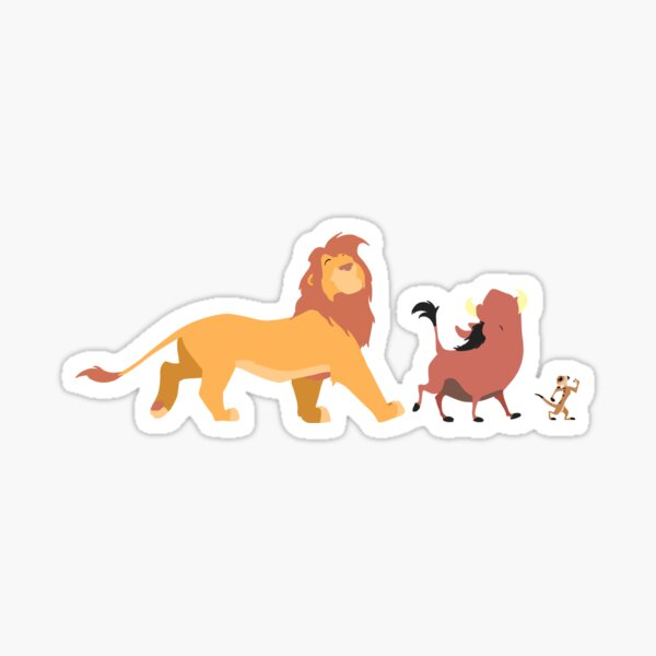 Le roi lion - Timón, Pumba, Simba Sticker