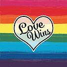 LGBTQ+ Pride Flag- Love Wins Design by PurposelyDesign
