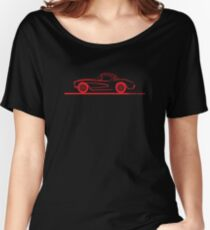 1956 1957 Corvette Hardtop Red Women's Relaxed Fit T-Shirt