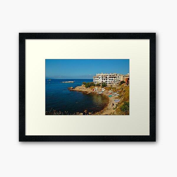 L'Escala, Costa Brava, Catalonia, Spain Framed Art Print