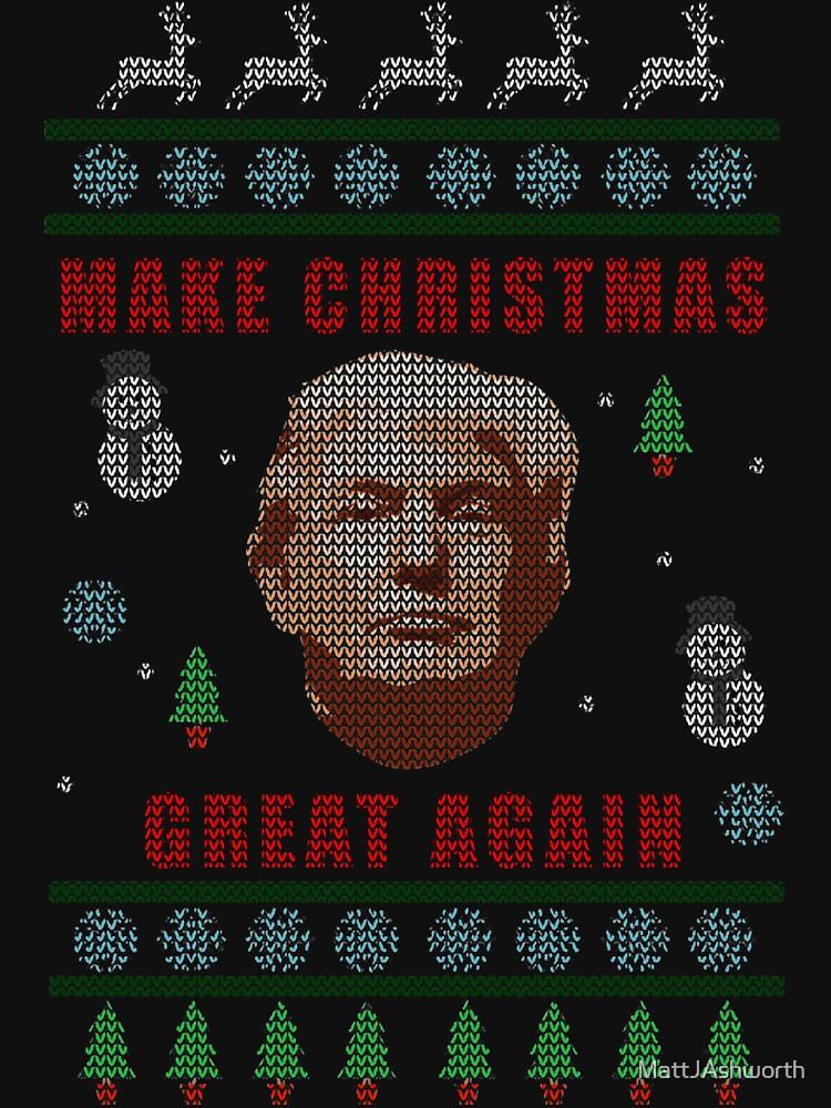 Make Christmas Great Again - Trump - Knitted Christmas Sweater Design by MattJAshworth
