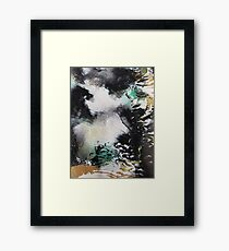 Clouds Over Black and Green Framed Print
