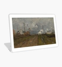 The Train is Arriving by Frits Thaulow Laptop Skin